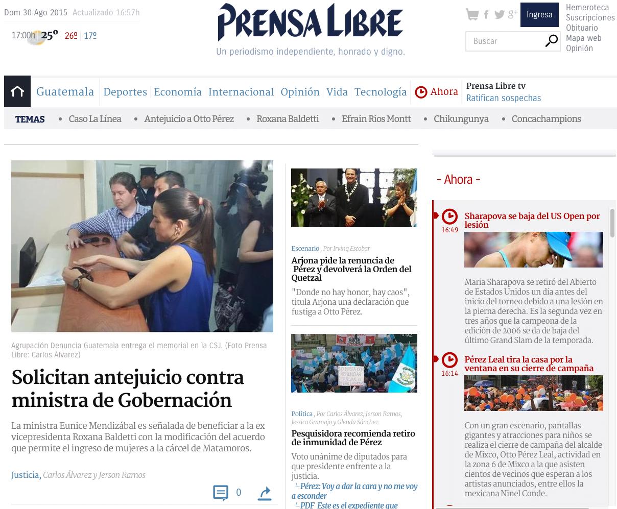 Prensa libre de guatemala noticias